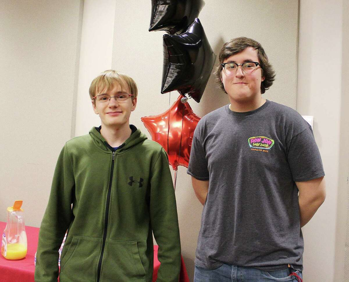 James Shapiro, left, and Michael Nikolla are two seniors at New Canaan High School who opted out of the senior internship program.
