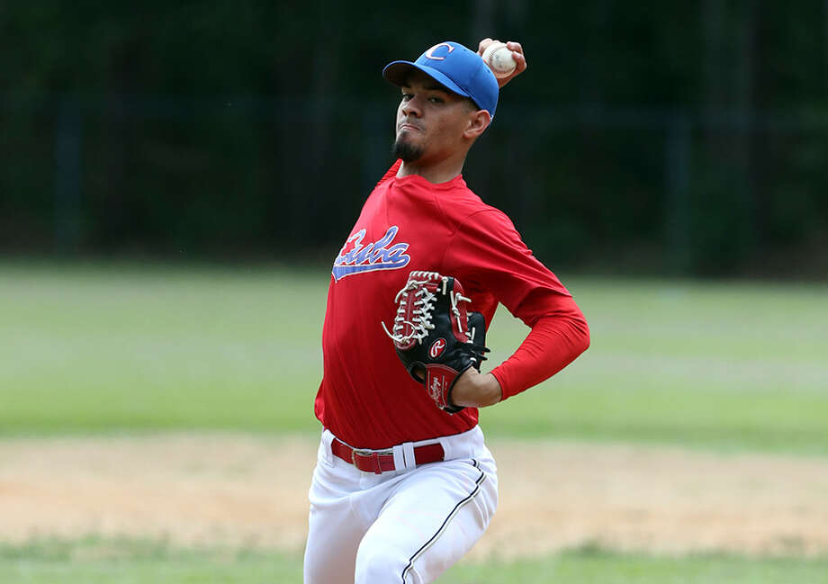 Cuban pitcher Elian Rodriguez signed with the Astros. (Photo courtesy Baseball America)