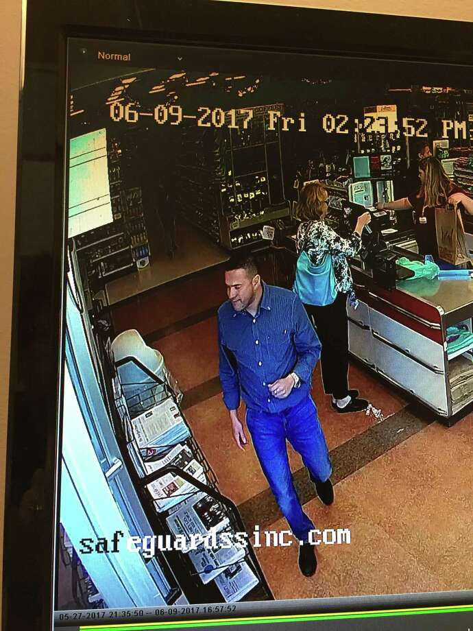Police are searching for the man shown here in video footage who took part in part in a recent theft in Woodbury. Photo: / Contributed