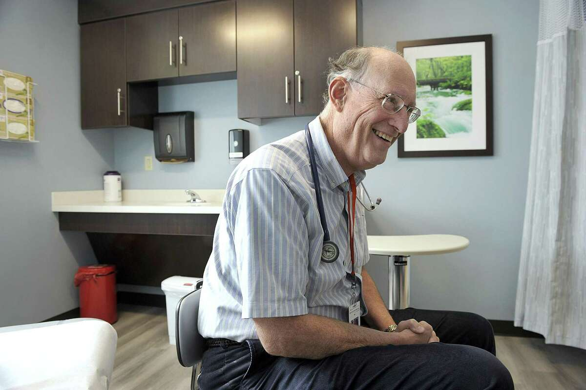 Dr. Peter Anderson, who has been a primary care doctor in New Milford for about three decades, has joined anew practice at New Milford Hospital, which opened in the middle of April. Photo Thursday, June 15, 2017.