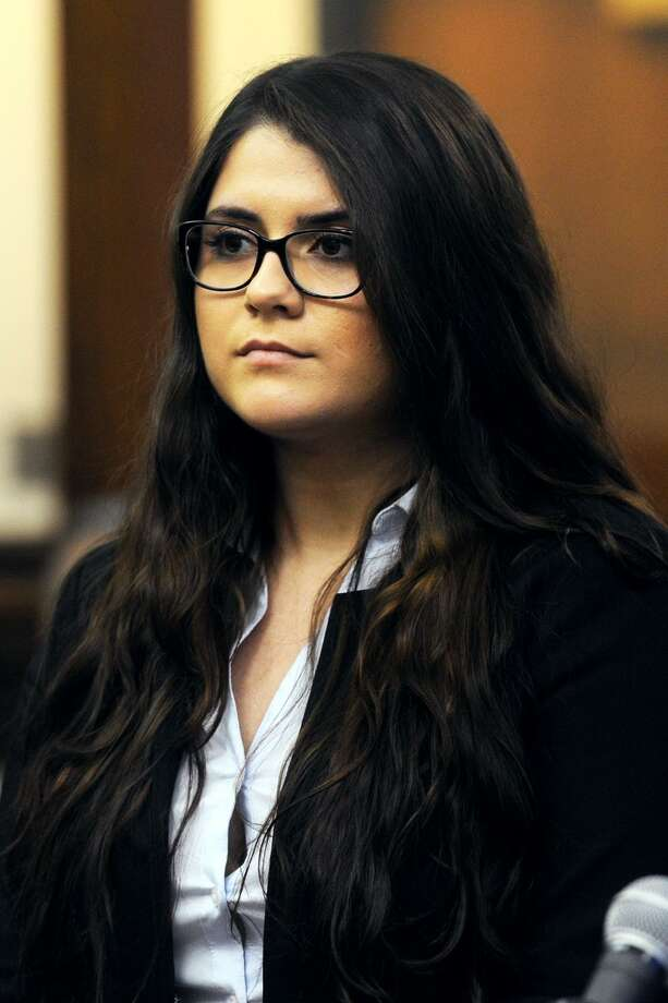 Nikki Yovino in Bridgeport Superior Court in March. Yovino is charged with second-degree falsely reporting an incident and tampering with or fabricating physical evidence. Photo: Ned Gerard / Hearst Connecticut Media / Connecticut Post