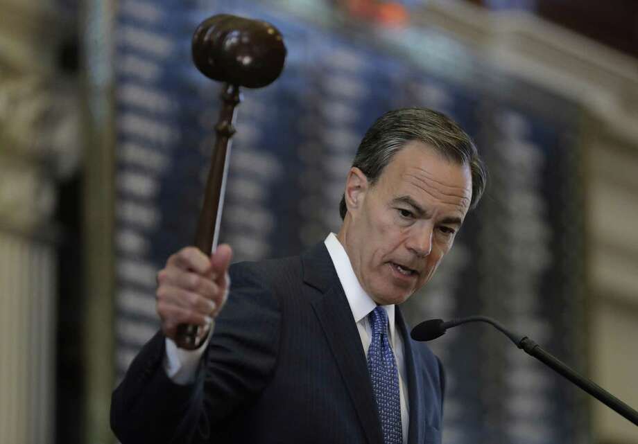 Texas Speaker of the House Joe Straus, R-San Antonio, presides over the opening of the 85th Texas Legislative session in the house chambers at the Texas State Capitol on Jan. 10. Straus and others in the House championed more funding for schools. The Senate did not go along. Photo: Eric Gay /Associated Press / Stratford Booster Club
