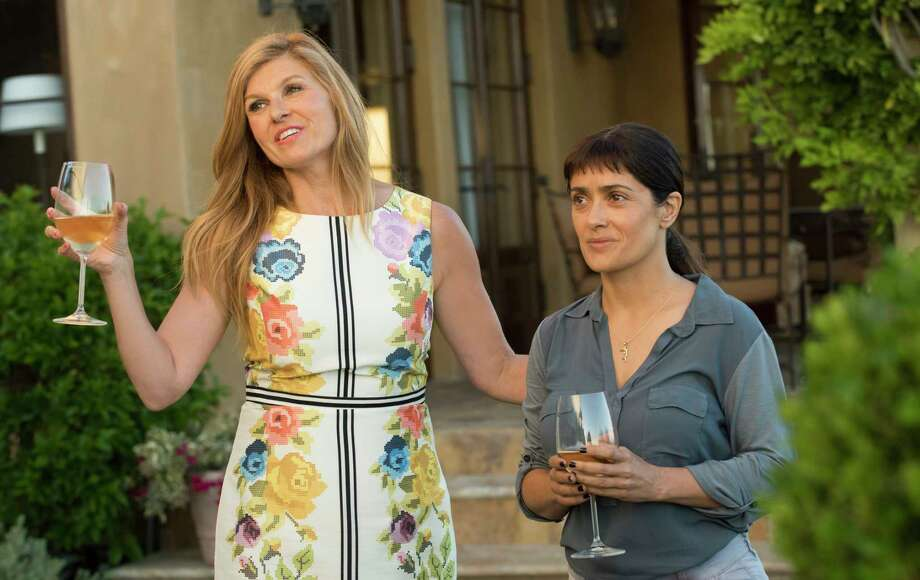 """Connie Britton, left, and Salma Hayek star in """"Beatriz at Dinner."""" Photo: Lacey Terrell / Lacey Terrell 2016"""