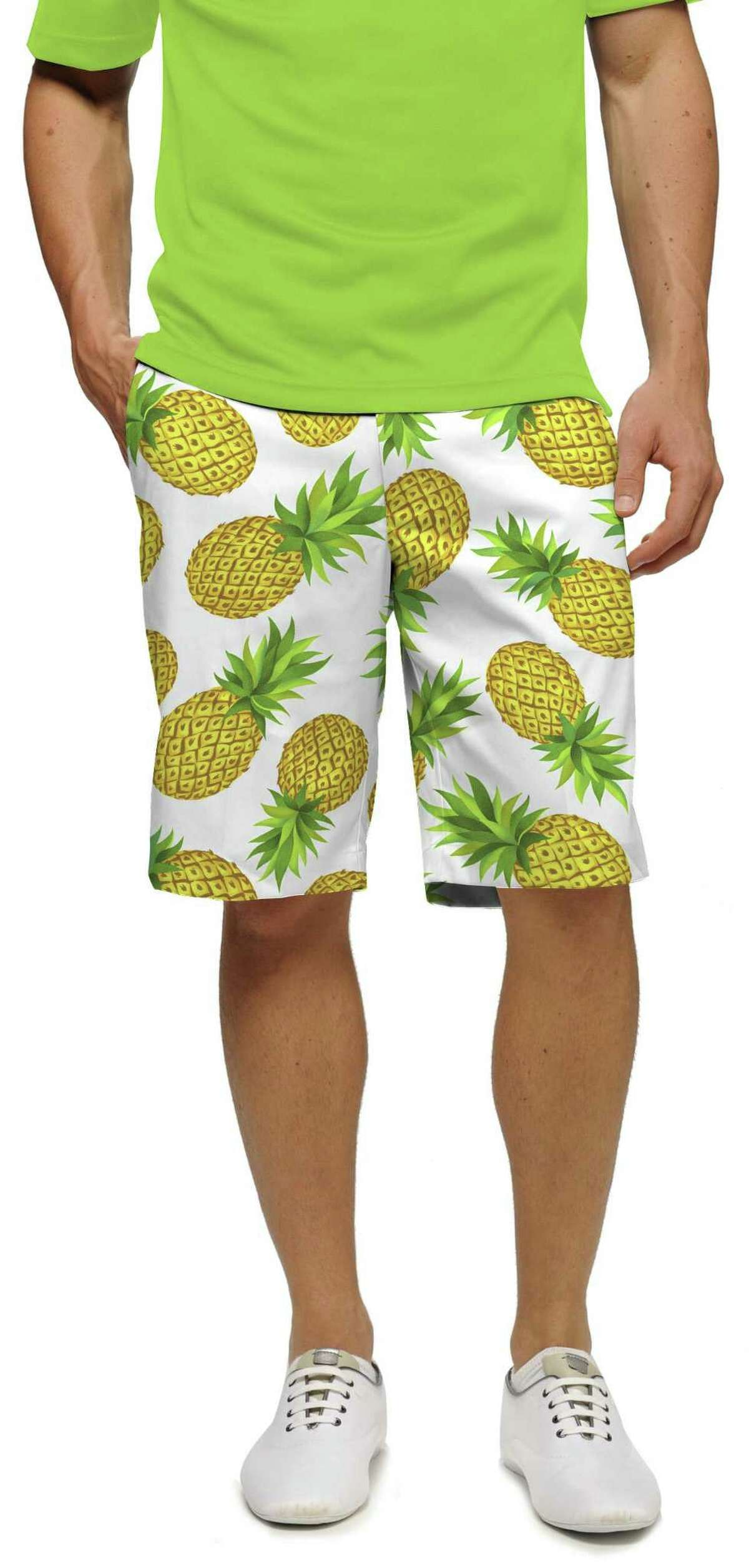 Above, pineapple pattern by Loudmouth, a California golf and lifestyle apparel company.