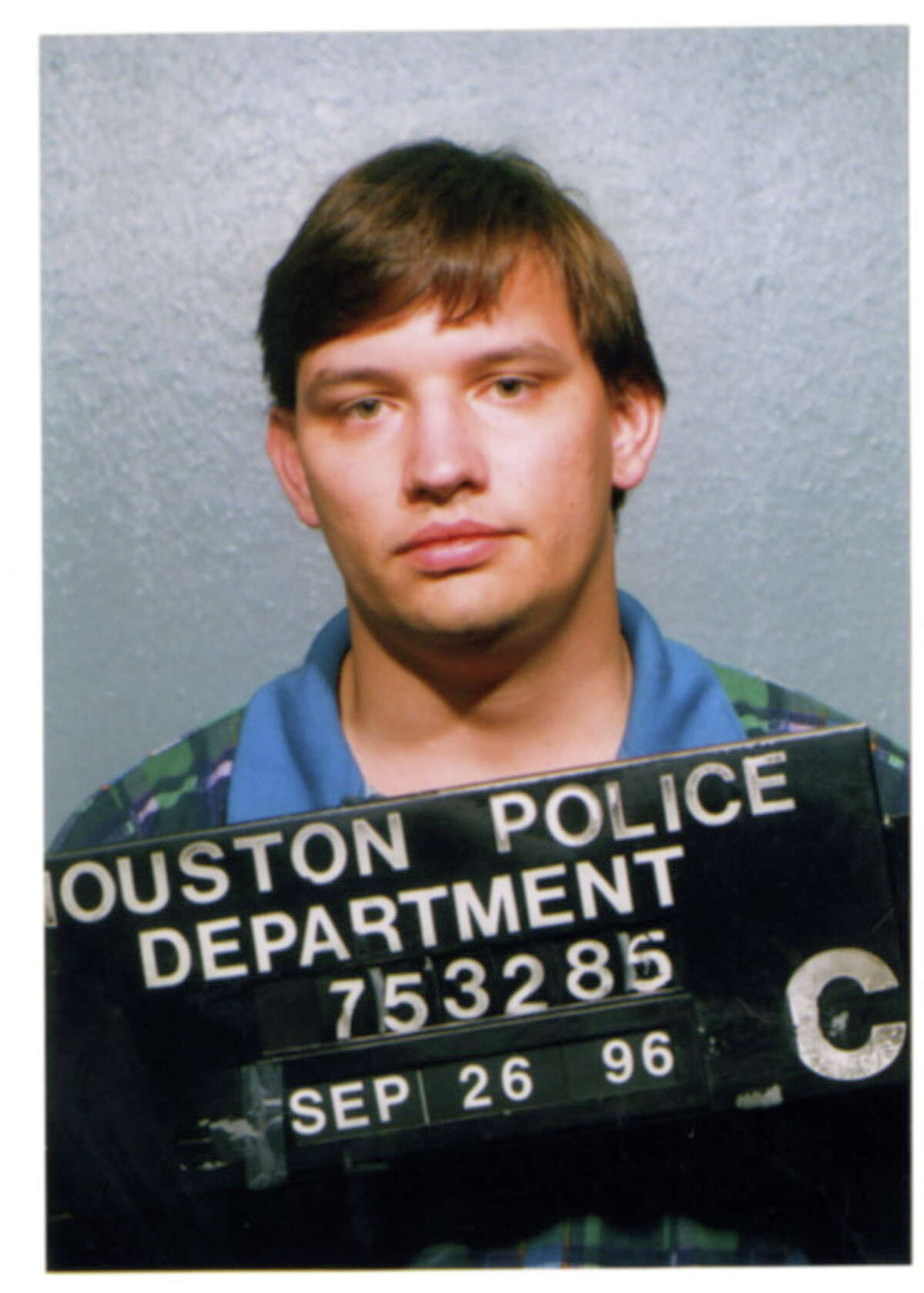 This 1996 photo shows Jason Posey when he was booked by HPD after attempting to elude officers who tried to stop him after Posey ran a red light. Posey, who was working as an aide for Stockman at the time, received deferred prosecution.