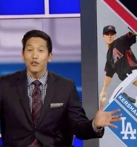 Cary Chow on ESPN. Photo: Cary Chow-ESPN/Instagram