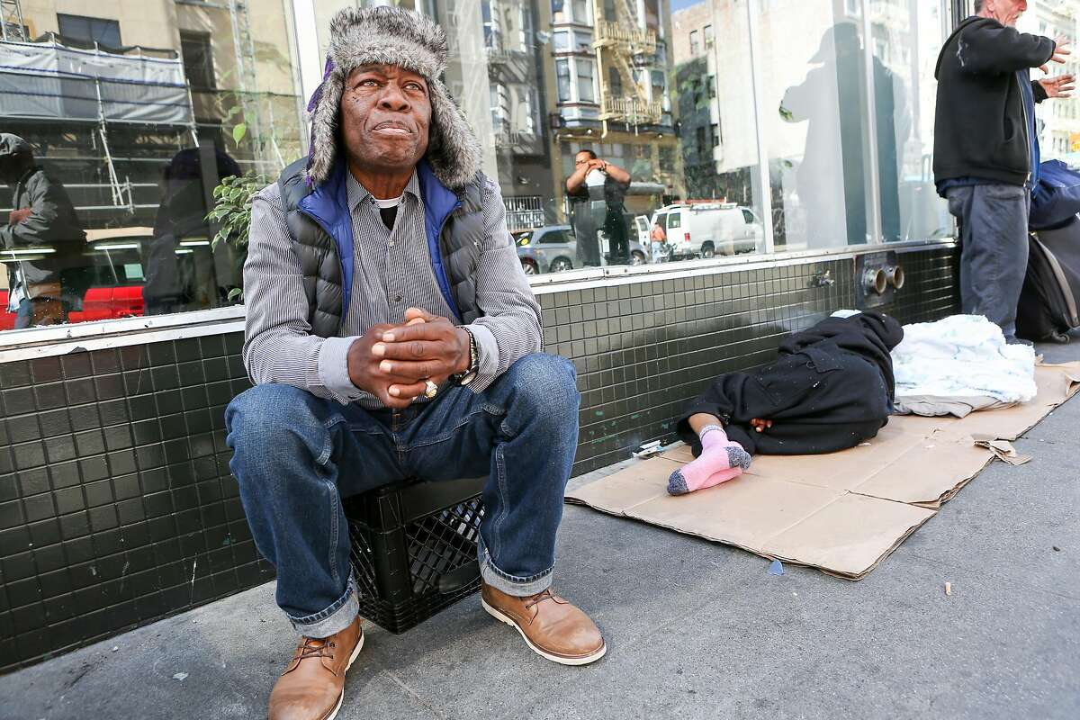 Henry T., whose been homeless for several years, talks about his frustration with the sigma surrounding homelessness on Thursday, June 15, 2017 in San Francisco, Calif.