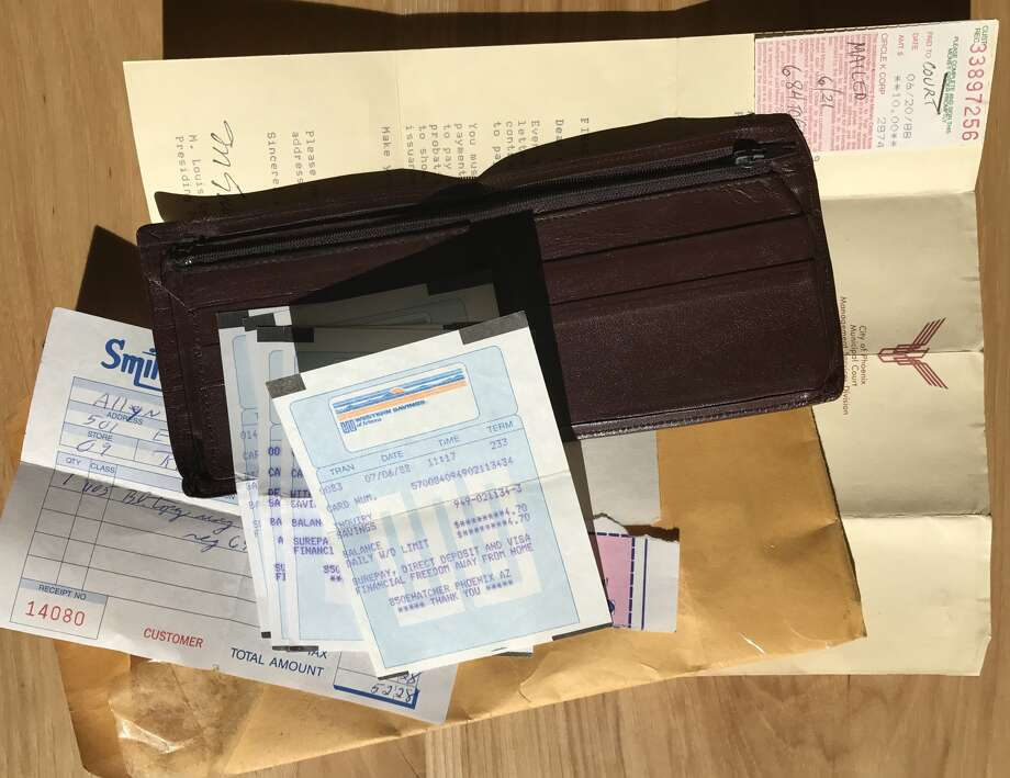 My father's wallet. He killed himself in 1988. Photo: Allyn West / Houston Chronicle