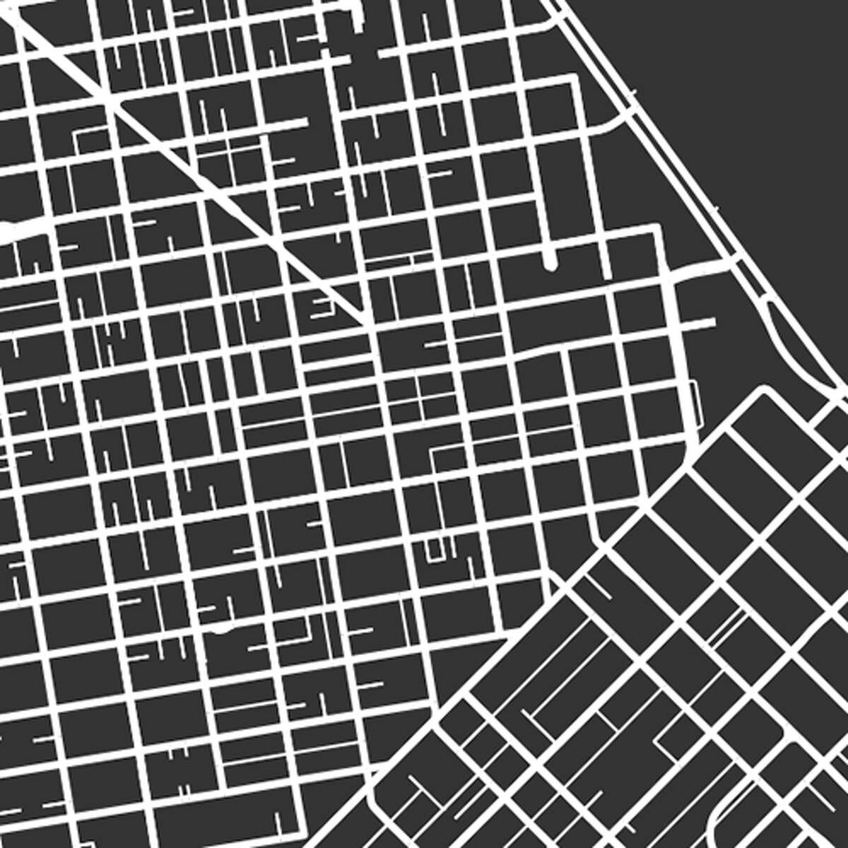 GALLERY:Square-mile maps show cities' differences from above San Francisco Geoff Boeing's square-mile maps demonstrate the diversity of global cities' street patterns.