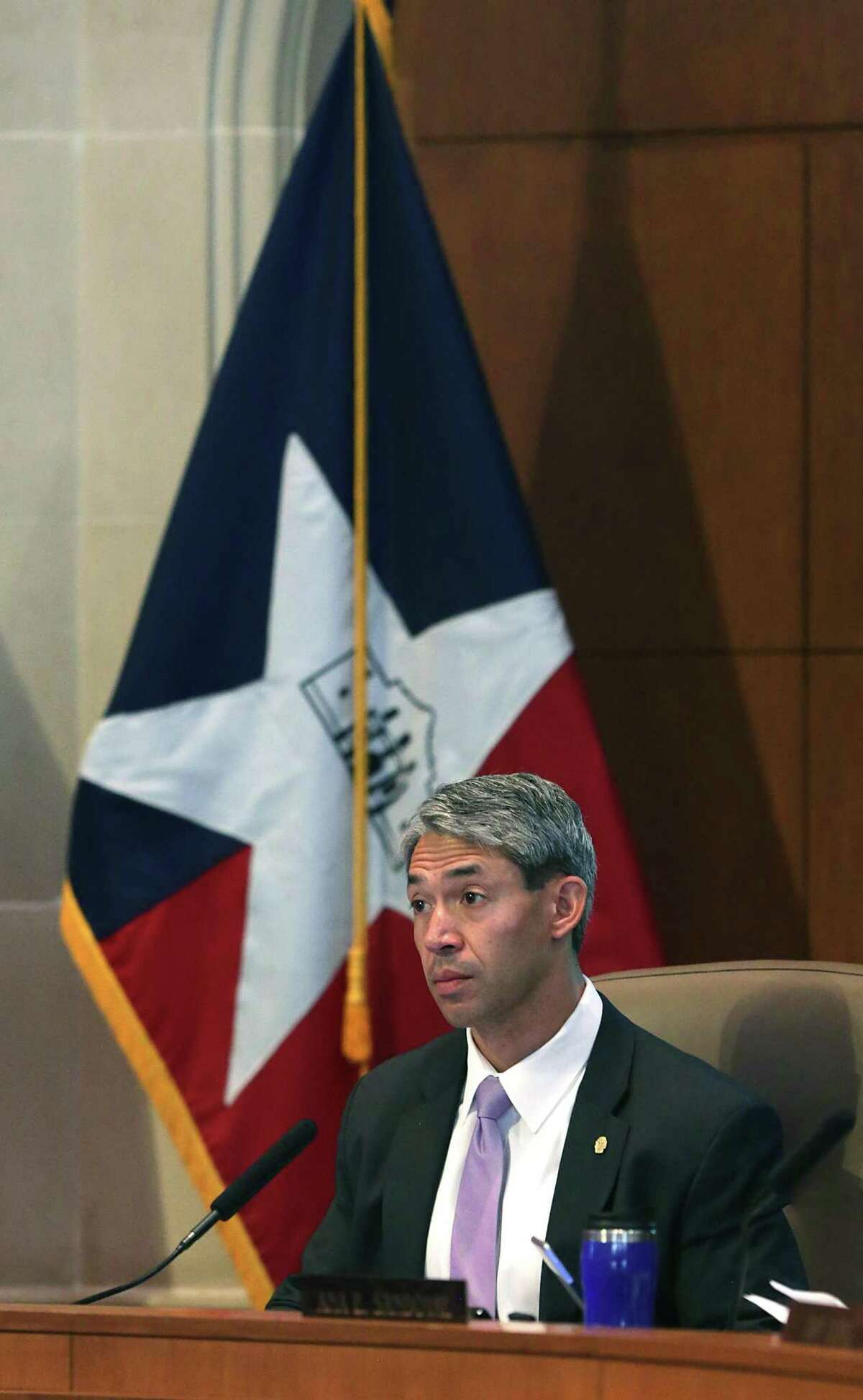 Mayor elect Ron Nirenberg attends his last council meeting as a councilman, in the Municipal Complex on Wednesday, June 14, 2017.