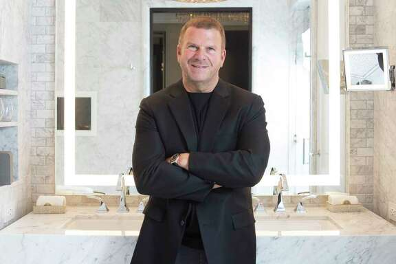 Chairman, CEO and owner of Landry's, Inc. Tilman Fertitta stands in the bathroom of a model room of his new Post Oak hotel Friday, June 2, 2017 in Houston. ( Michael Ciaglo / Houston Chronicle )