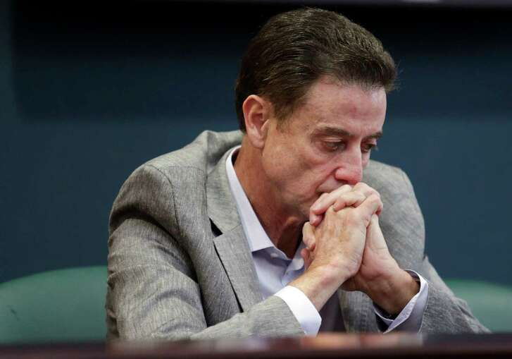 """Louisville coach Rick Pitino, who has denied knowledge of sex parties tied to a former assistant, called Thursday's NCAA ruling """"over the top."""""""