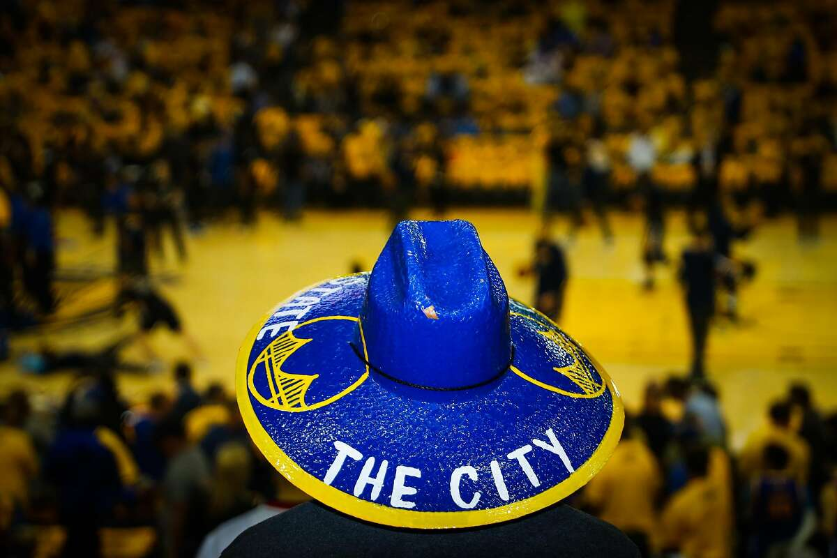 Nick Ardales sports a custom made sombrero ahead of Game 2 of the Western Conference Semifinals 2017 NBA playoffs between the Golden State Warriors and Utah Jazz at Oracle Arena in Oakland, California, on Thursday, May 4, 2017.