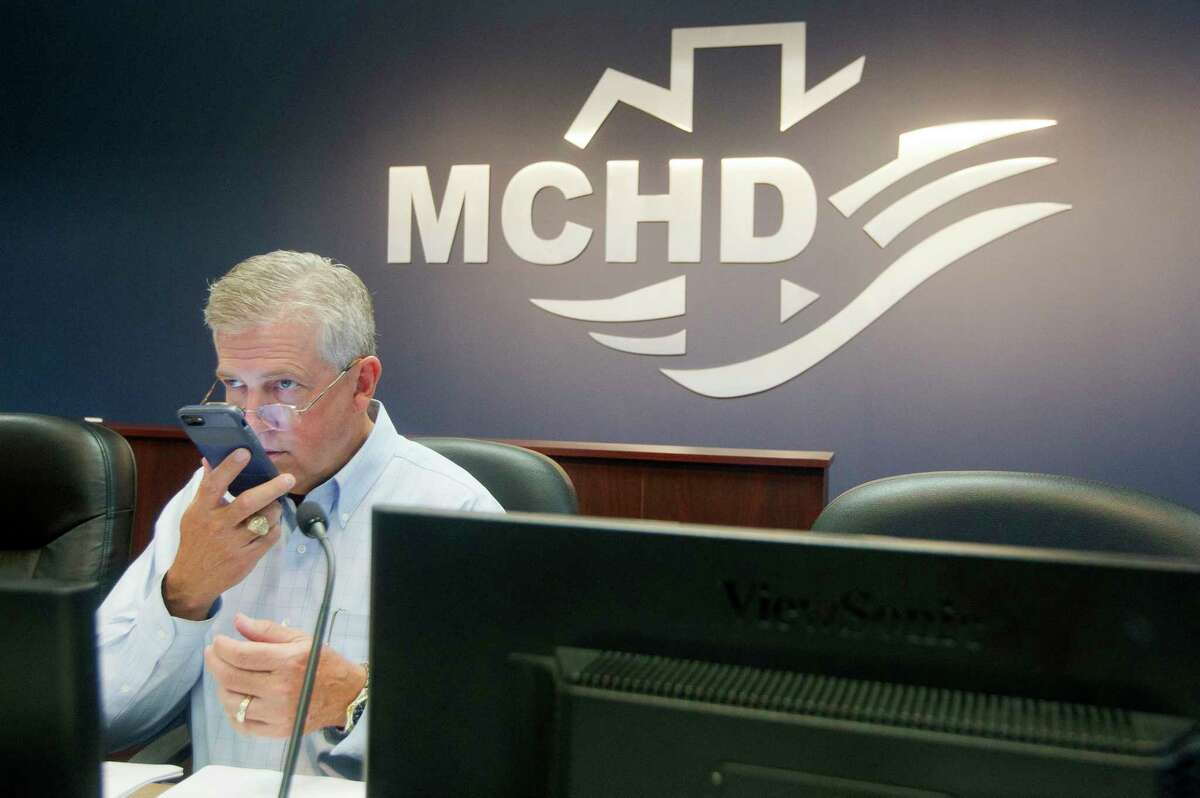 Montgomery County Judge Craig Doyal is seen before a Montgomery County Public Health District meeting, Thursday, June 15, 2017, in Conroe.