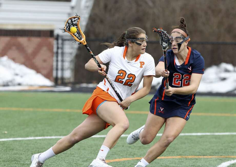 Princeton University junior Olivia Hompe, a New Canaan native was one of five finalists for the 2017 Tewaaraton Award. Photo: Beverly Schaefer /Princton Athletics / Contributed Photo / Stamford Advocate Contributed