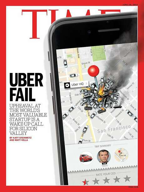 Time magazine features Uber's disastrous past few months on its latest cover. Photo: Time Magazine