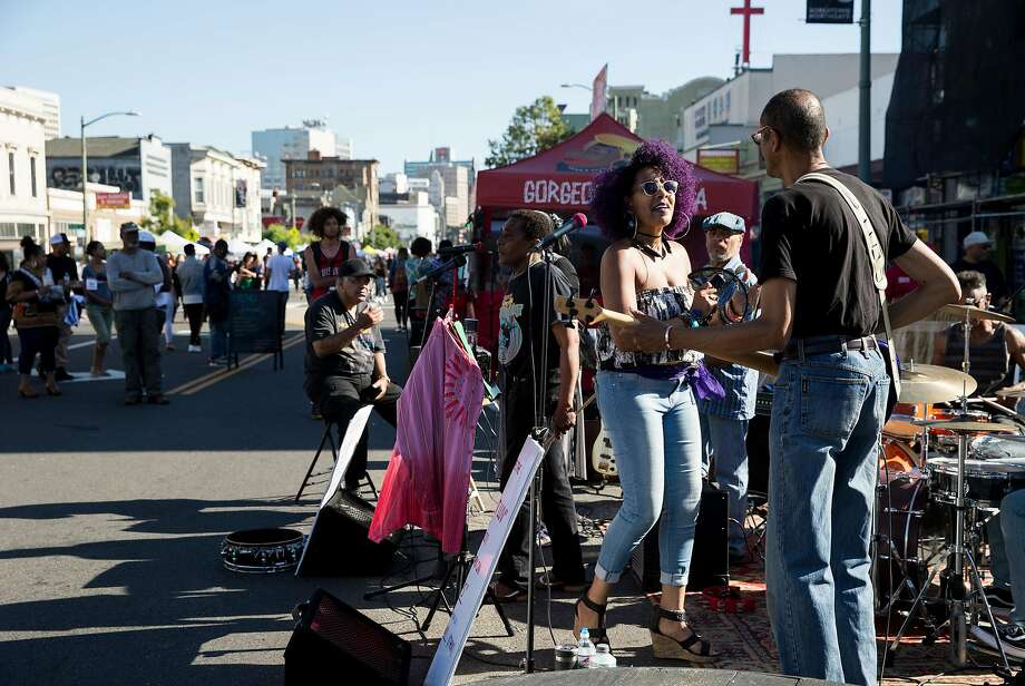 Oakland First Fridays street festival is an art, music, food and community festival that takes place every first Friday of the month, weather permitting. Photo: Laura Morton, Special To The Chronicle