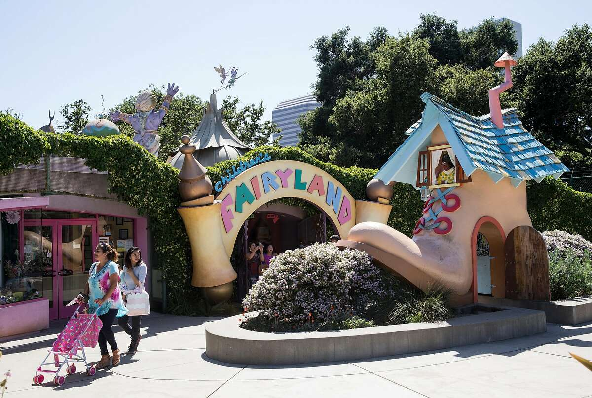 The whimsical entrance to Children's Fairyland is seen at the park in Oakland, Calif., on Sunday, June 4, 2017. The classic children's amusement park is located on the shores of Lake Merritt.