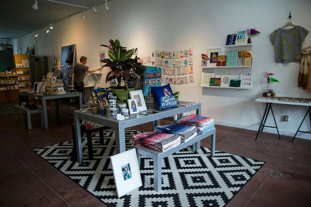Mischief, a shop featuring local artists, is seen in the Laurel District in Oakland, Calif., on Thursday, June 8, 2017. The heart of the Laurel District's shopping area is located on MacArthur Boulevard.
