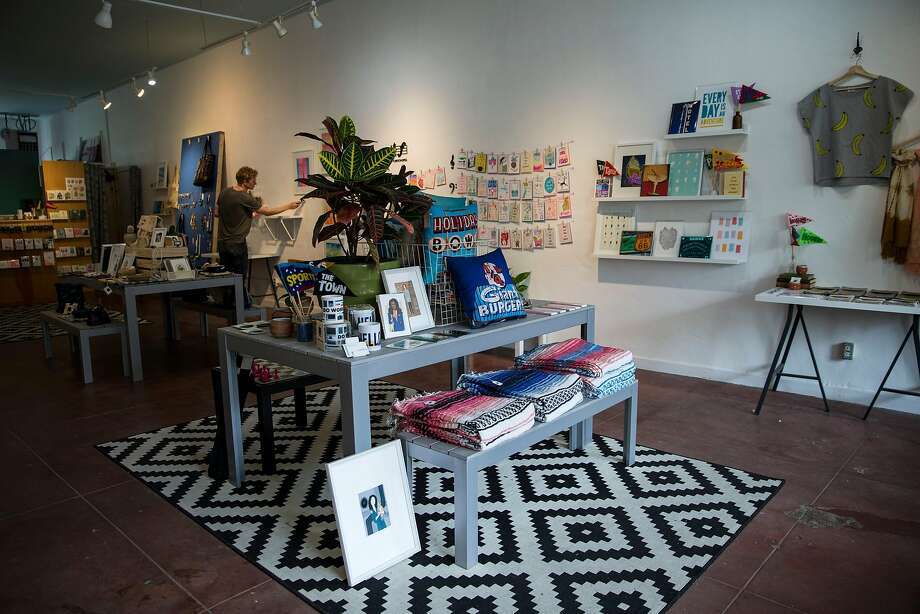 Mischief is a family-owned business featuring local artists in the Laurel District. The heart of the Laurel District's shopping area is located on MacArthur Boulevard. Photo: Laura Morton, Special To The Chronicle