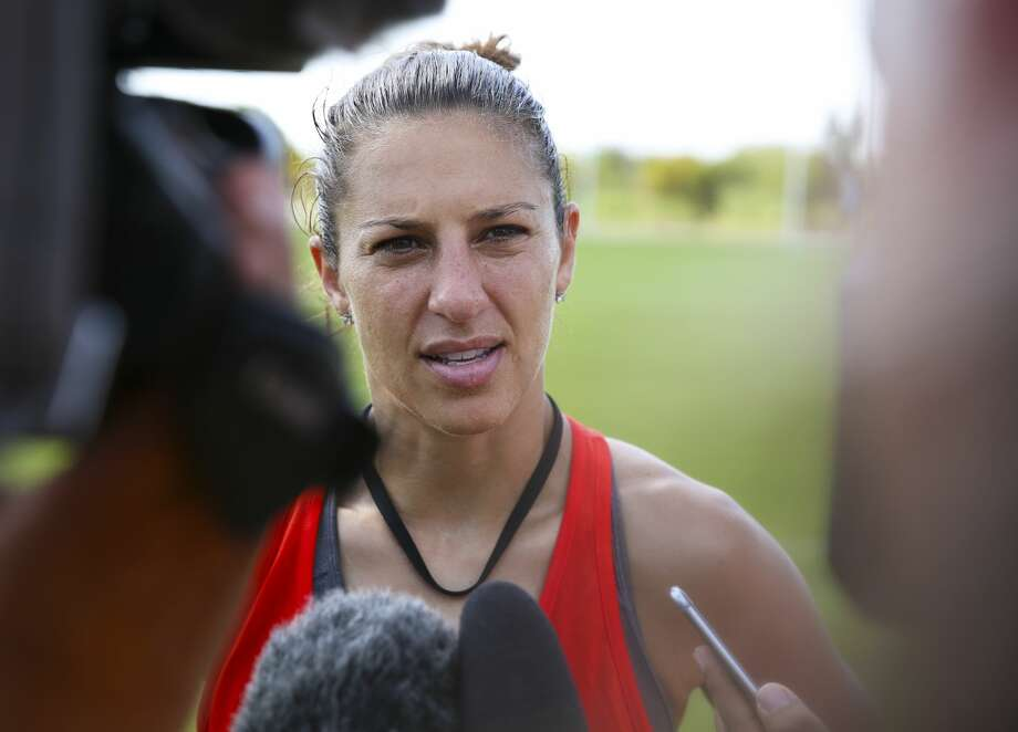 Carli Lloyd's three-season run with the Dash ended on Thursday when the club traded her and Canadian international Janine Beckie on Thursday during the NWSL Draft. Photo: Yi-Chin Lee/Houston Chronicle
