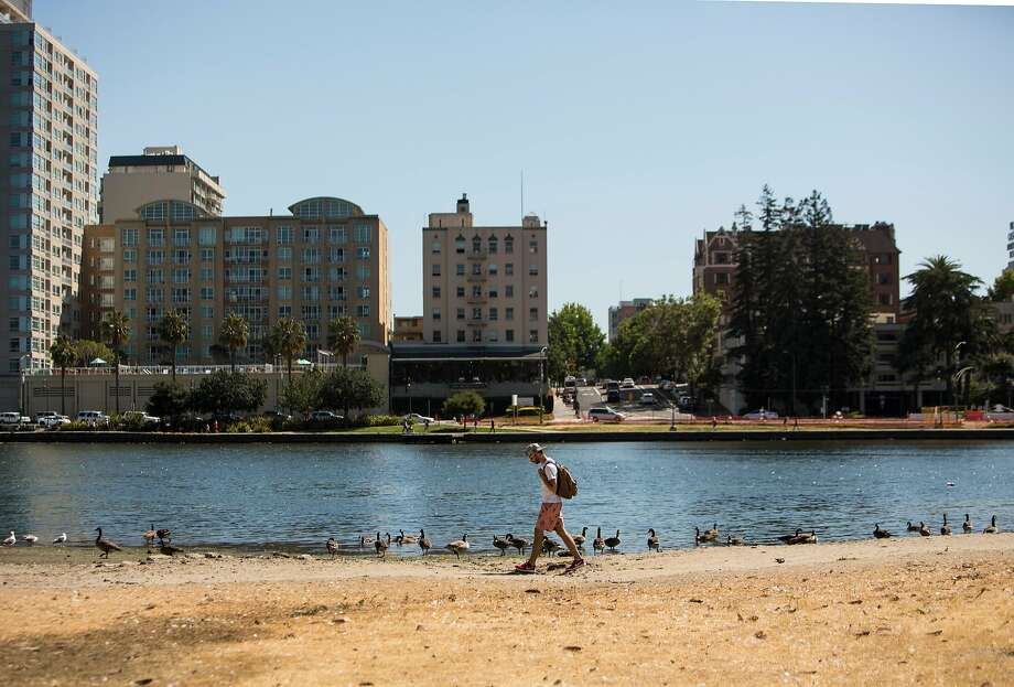 The Oakland A's have been making some noise about building a new stadium in Oakland, and some recent media reports have suggested the A's are favoring the Laney site, near Lake Merritt. Photo: Laura Morton, Special To The Chronicle