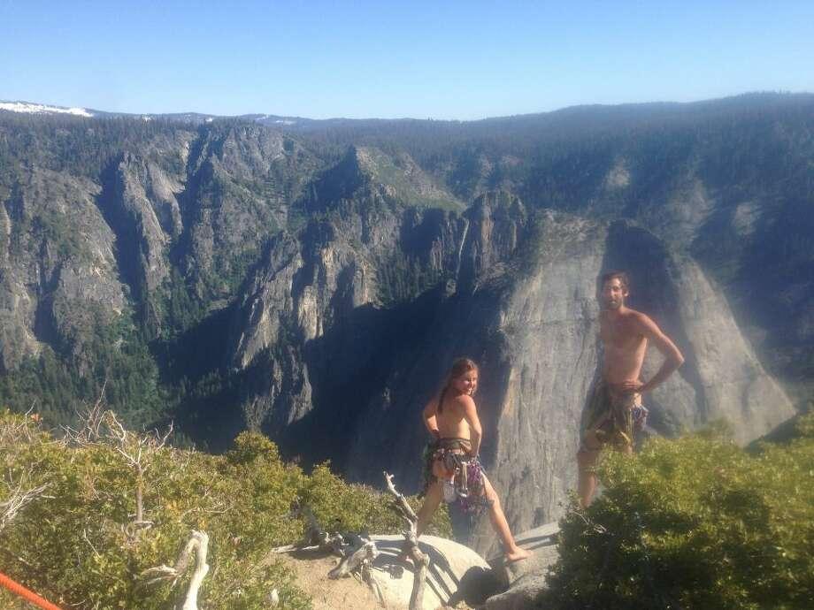 On June 6, Leah Pappajohn, 29, and Jonathan Fleury, 28, scaled Yosemite's El Capitan naked. Photo: Photos Courtesy Leah Pappajohn