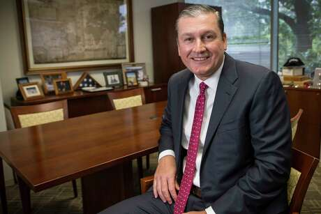 Kevin Fogarty, president and CEO, Kraton specialty chemicals and plastics, poses for a portrait in his office on Thursday, June 1, 2017, in Houston. ( Brett Coomer / Houston Chronicle )