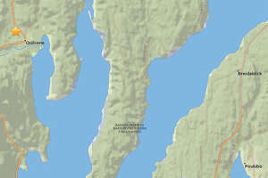 The earthquake was located west of Hood Canal near the town of Quilcene.