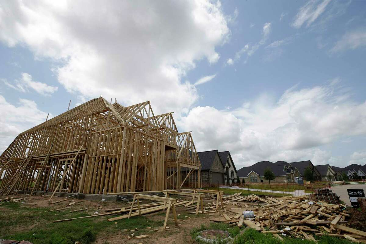 New home construction is shown at Riverstone Sunday, June 4, 2017, in Missouri City.