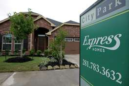 Express Homes by builder DR Horton are shown in City Park Thursday, June 1, 2017, in Houston. ( Melissa Phillip / Houston Chronicle )