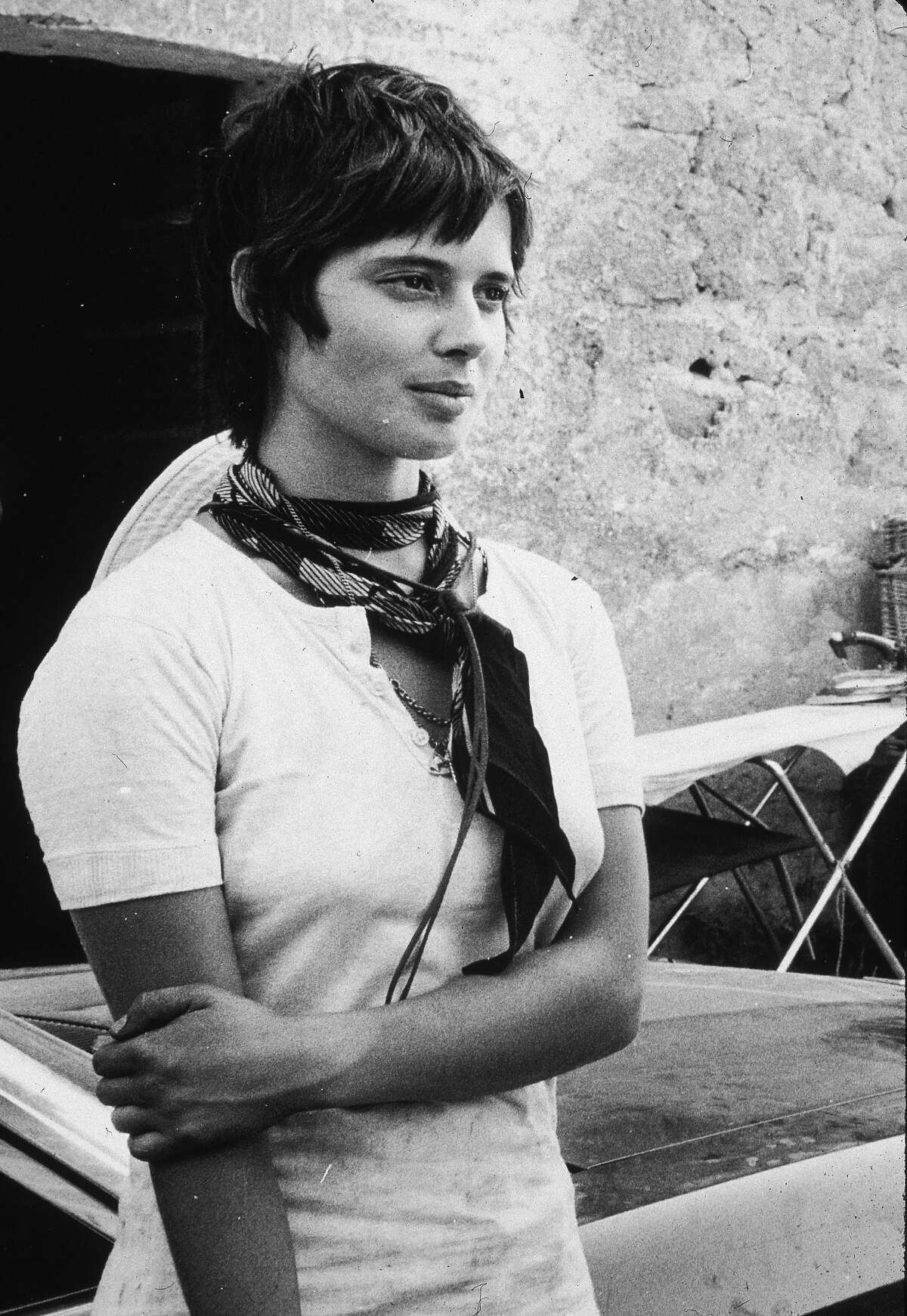 August 1971: Isabella Rossellini at age 19, in Rome on the set of her father/director Roberto Rossellini's film,