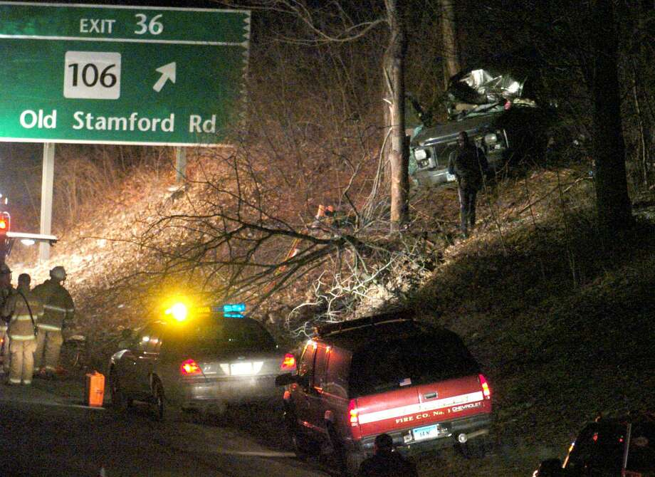Click through for some statistics on crashes in Fairfield County...The scene from a fatal crash on the Merritt Parkway. Photo: / ST