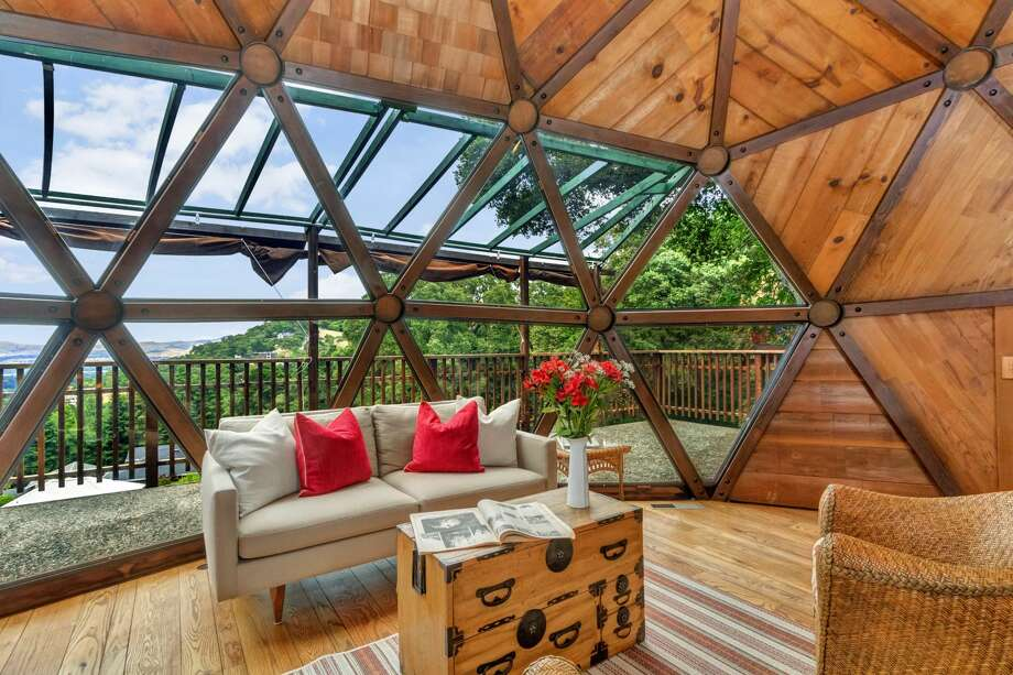 Inspired by 20th century architect Buckminster Fuller, this unique Lafayette home with a geodesic dome design is on the market for $889,000. Photo: Todd Taylor