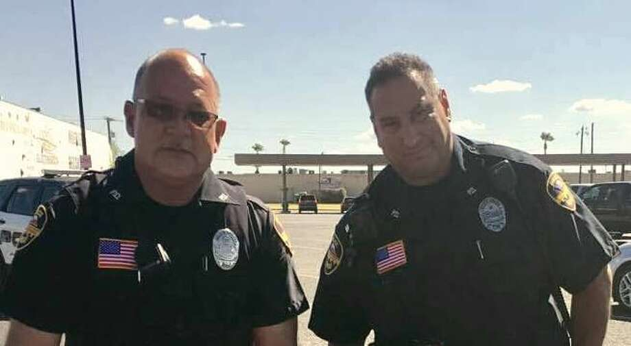 Officer Rodrigo Ruiz and Officer John Morales are shown in this file photo from 2016. Photo: Laredo Police Department