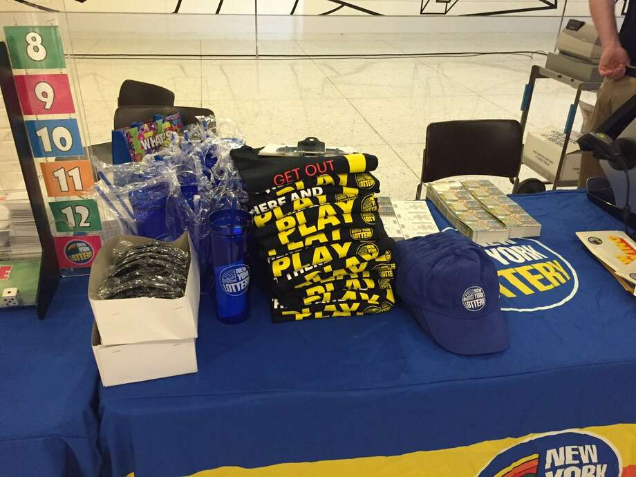 The New York Lottery has tickets, giveaways and prizes at the Empire State Plaza concourse in Albany from 11 am to 2 p.m. Friday, June 16, 2017. Photo: NYS Gaming Commission