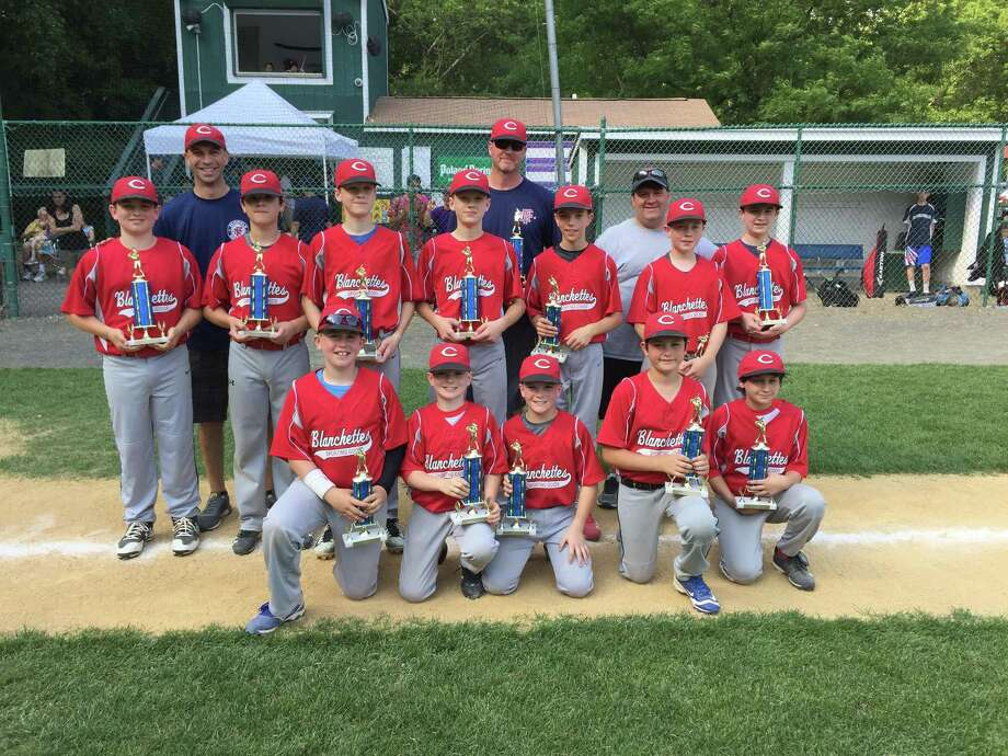 Blanchettes Sporting Goods won the 2017 Majors Division of the Fairfield National Little League on June 10 with a 3-1 decision over L&L Ever-Green. Members of Blanchettes include: manager Steve Robilotto, coaches Kevin Frey and Paul Stellato and players Charlie Jamaitis, John Heitzman, Zack Hios, Nick Hios, Will Stellato, Colin Frey, Matthew Robilotto, Trevor Nikolis, James Dean, Jack Dean, Austin Howard and Ethan Kontarovich. Photo: Contributed Photo / Chris Elsberry