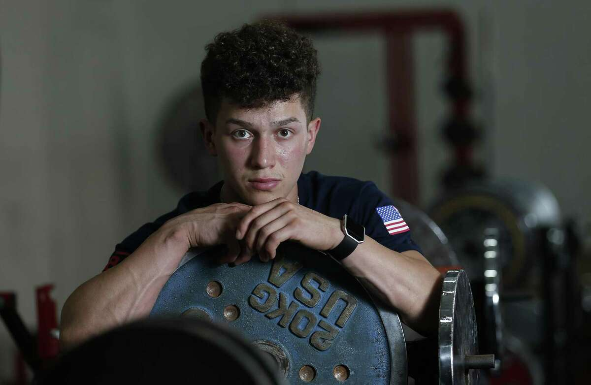 Area powerlifters Jorge Saldana (pictured) and Sawyer Yandell are heading to the IPF World Open Classic Powerlifting Championships in Minsk, Belarus as part of Team USA. Saldana and Yandell befriended one another in high school where both began their formal training into weightlifting. (Kin Man Hui/San Antonio Express-News)