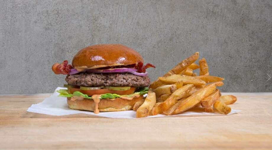 Fletcher's Hamburgers at The Bottling Department is using grass-fed Texas Angus beef. Photo: Knox Photographics