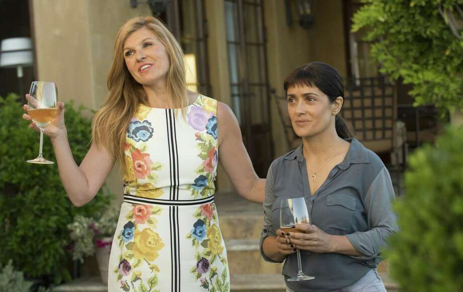 "Connie Britton, left, and Salma Hayek in ""Beatriz at Dinner."" Photo: FilmNation Entertainment / Lacey Terrell 2016"