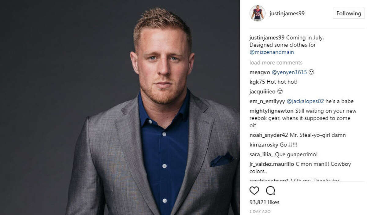 J.J. Watt shares a preview of his new clothing line on Instagram. (justinjames99/Instagram) >>Check out the great moments of JJ Watt off the football field...