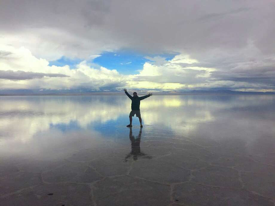 Dustin Hill spent three weeks exploring South America alone. One stop: Salar de Uyuni, an enormous salt flat in southern Bolivia. Photo: Handout Courtesy Of Dustin Hill. / Handout