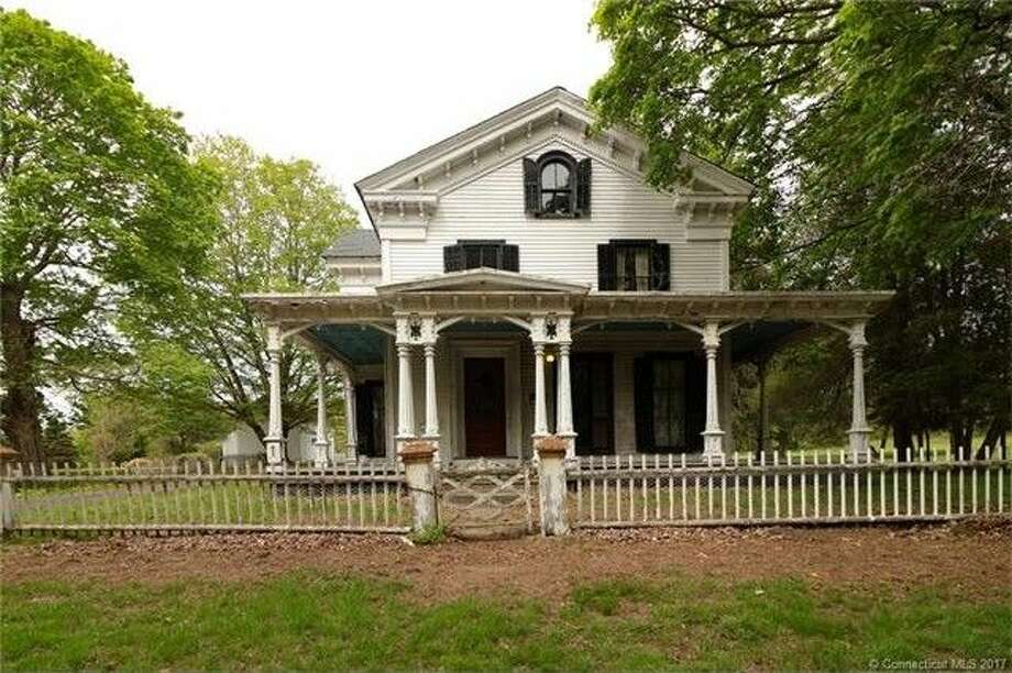 Johnsonville – a 62-acre ghost town in East Haddam, Conn. – is up for sale for $1.9 million. The town includes a number of buildings, a former bank, general store, church, school and restaurant. Photo: Connecticut MLS Via Realtor.com