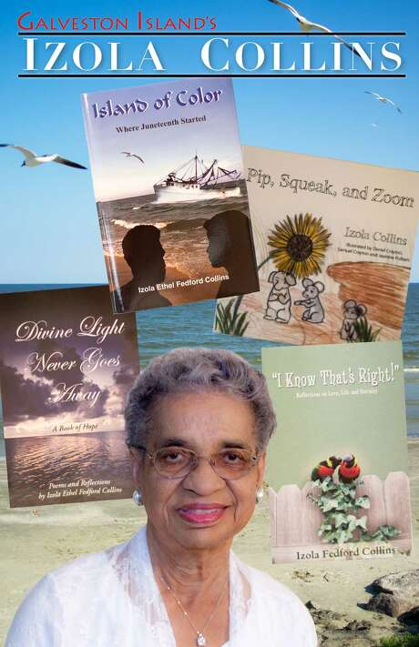 """Izola Collins on the bookcover of """"Island of Color: Where Juneteenth Started."""" Photo: Courtesy Of Rising Tide New Media"""
