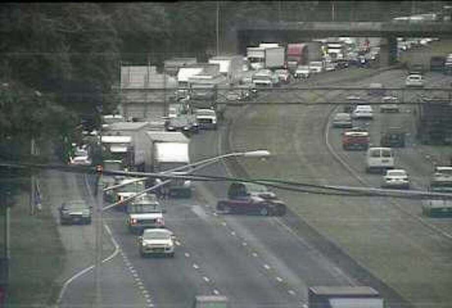 Two southbound lanes on I-95 between Norwalk and Westport were closed on Friday, June 16, 2017. The accident involved at least two vehicles. It was reported at 12:25 p.m. Photo: Connecticut DOT Camera