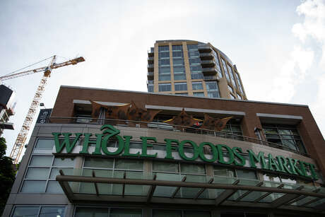 Whole Foods Market in Denny Triangle, near Amazon headquarters in Seattle photographed on Friday, June 16, 2017. Amazon announced its planned purchase of the grocery chain in a deal valued at $13.7 billion. Photo: GRANT HINDSLEY, SEATTLEPI.COM / SEATTLEPI.COM