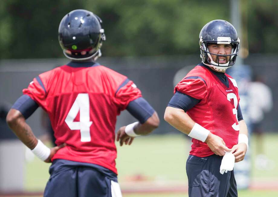 Tom Savage (3) has been named the Texans' starting quarterback, but is expected to be pushed by Deshaun Watson (4), this year's first-round pick and a decorated college winner at Clemson. Photo: Brett Coomer, Staff / © 2017 Houston Chronicle