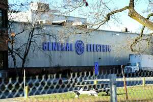 A view of the General Electric capacitor plant on Tuesday, Nov. 17, 2015, in Fort Edward, N.Y.  The state Health Department studied cancer rates in Fort Edward and nearby Hudson Falls in the mid-2000s and said it found some anonmalies, but no cancer cluster. (Paul Buckowski / Times Union)