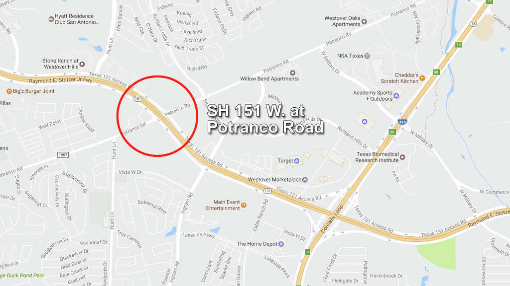 Sh 151 West At Potranco Road When 12 30 P M April 29 Unknown
