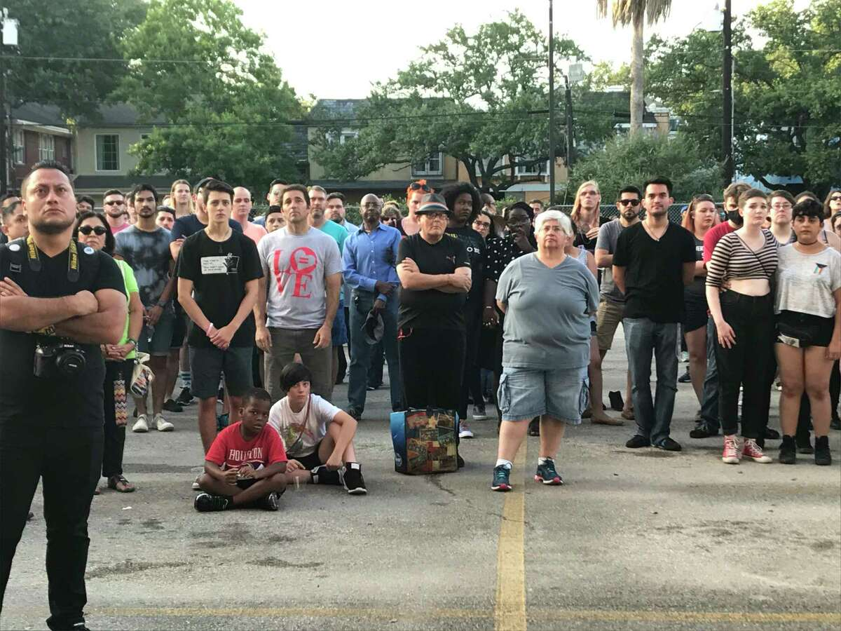 HoustonÂ?'s LGBT community honor victims of the Pulse nightclub shooting in Orlando, Fla., a week ago. Speakers and activists also used the occasion to implore the public Â?- gay or straight Â?- to get involved in city and state political issues that affect the gay community.